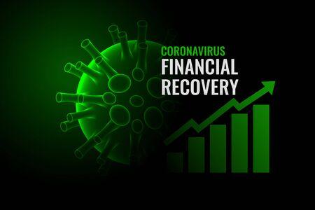 coronavirus economic recovery after the disease cure Vecteurs