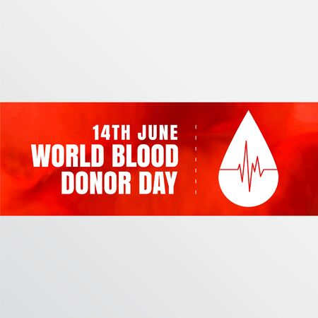 14th june world blood donor day banner design