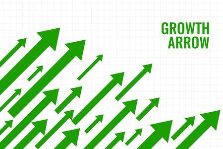 business growth arrow showing upward trend