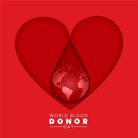 world blood donor day background concept