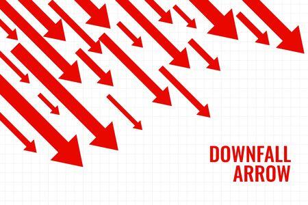 business downfall arrow showing downward trend Vektoros illusztráció
