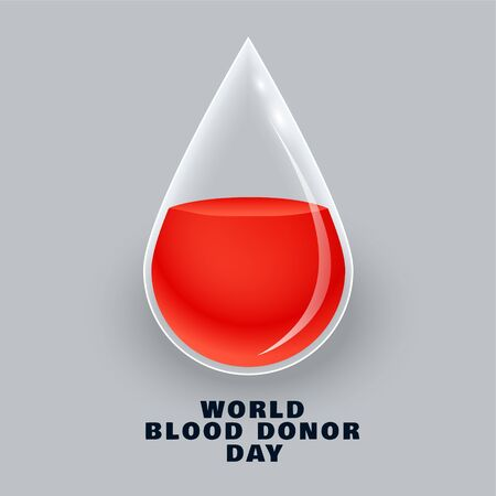 blood donor day concept design