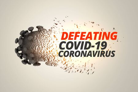 defeating and destroying coronavirus covid19 concept background