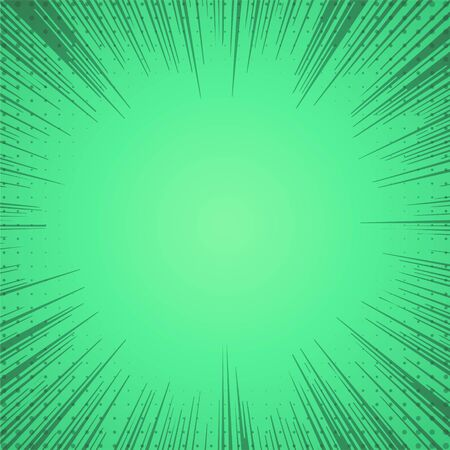 green comic zoom lines background