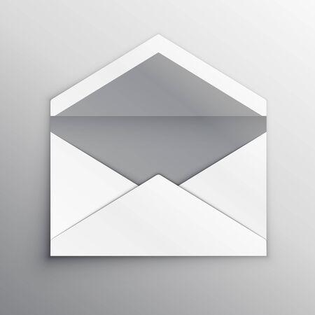empty envelope back side realistic mockup template Ilustración de vector