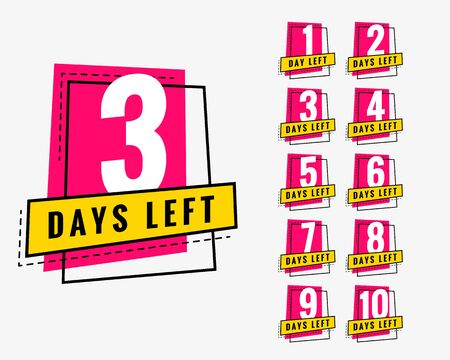 days left trendy banner for marketing and promotion