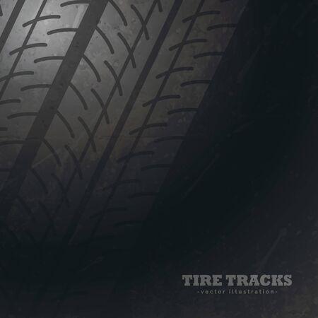 dark background with tire tracks marks