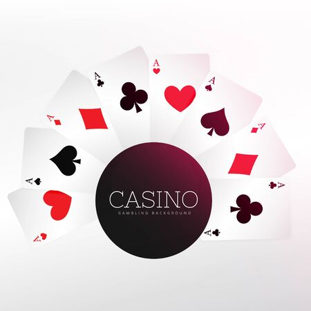 casino playing cards background Ilustração