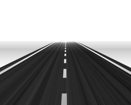 perspective road towards the horizon