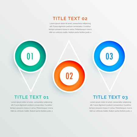 abstract modern steps option colorful infographic design banner Vettoriali