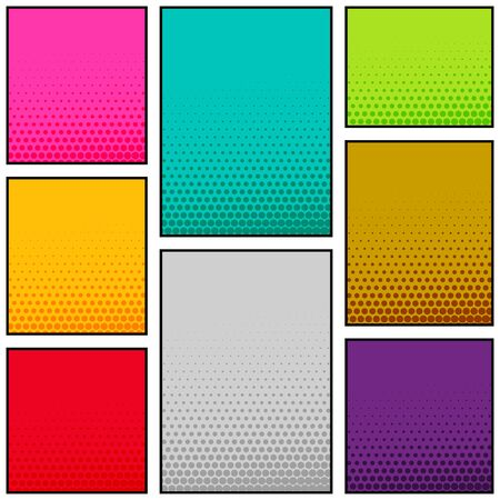 multi color comic book style vertical banner design