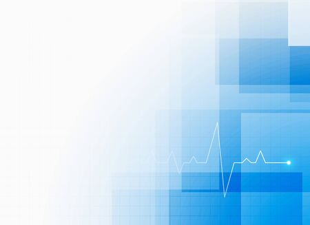 blue medical healthcare background with cardiograph