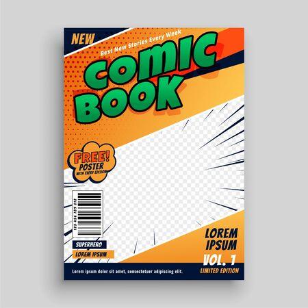 comic book magazine cover page template design
