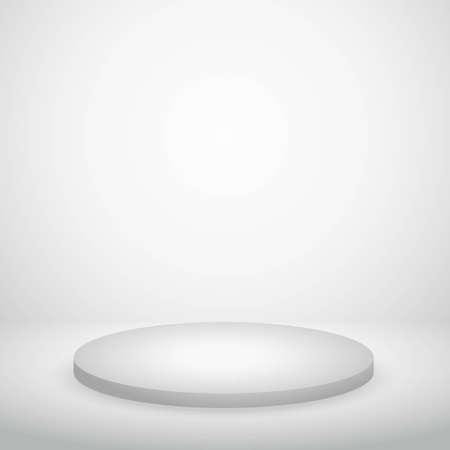 podium in white wall with lights vector design illustration Vektorgrafik