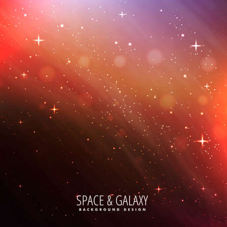 abstract colorful beautiful universe stars galaxy background Vector Illustratie