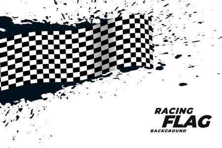 abstract racing flag grunge background Vector Illustratie