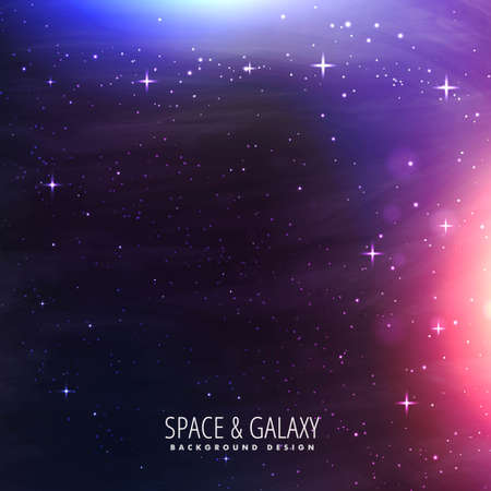 abstract colorful beautiful universe stars galaxy background  イラスト・ベクター素材