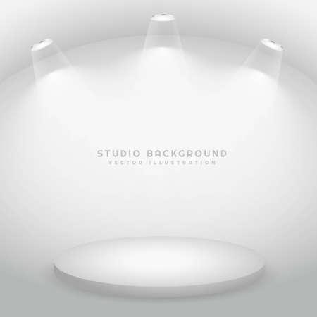 minimal studio background empty room with spot lights