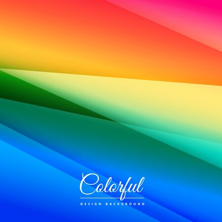 abstract Rainbow background illustration design template