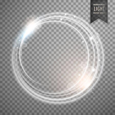 transparent while light effect vector design Vettoriali