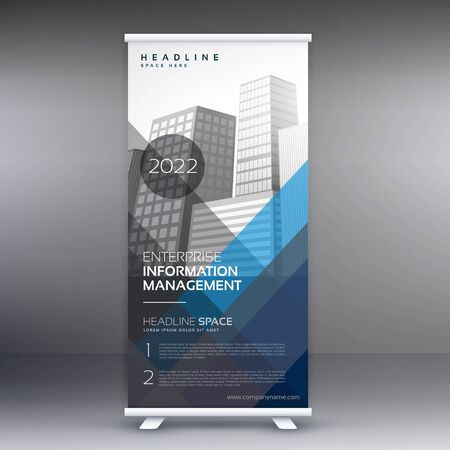 abstract professional corporate business roll up banner design illustration Vettoriali