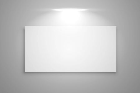 display gallery frame with focus light background