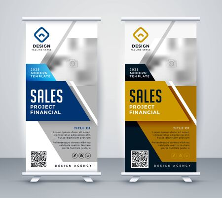 modern standee rollup banner for marketing
