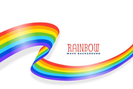 rainbow wavy ribbon or flag background