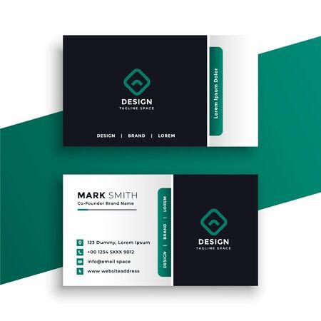 professional elegant business card design template