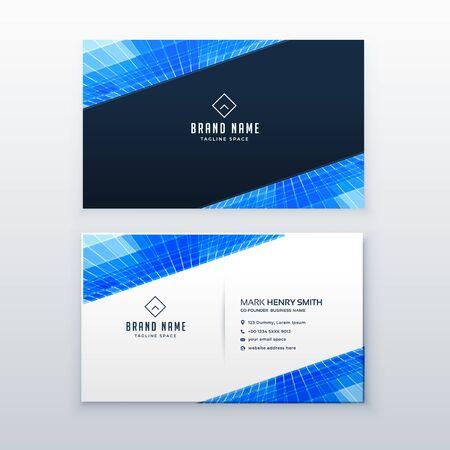 blue business card design vector template Иллюстрация