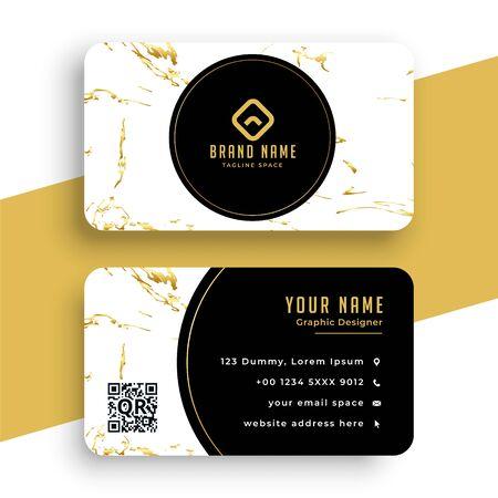 creative marble texture business card premium design