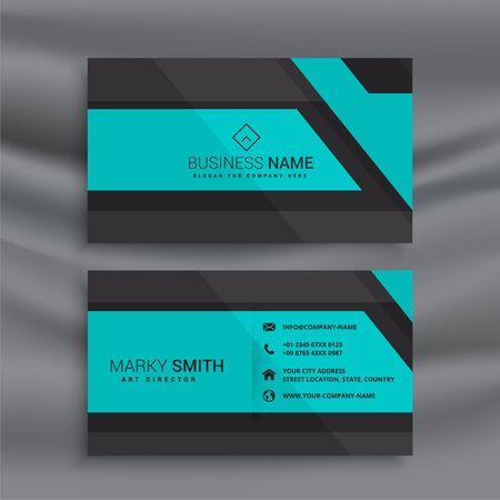 stylish blue business card design Vecteurs