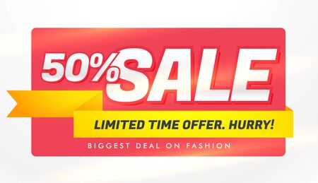 sale banner template with offer and discount details