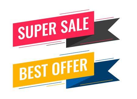 modernes Verkaufsband-Banner-Set Vektorgrafik