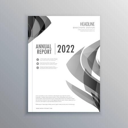 creative brochure flyer design with vibrant colors template design illustration Vektoros illusztráció
