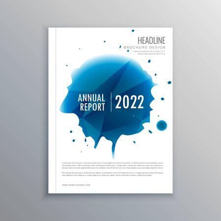 conception de flyer brochure créative avec illustration de conception de modèle de couleurs vives Vecteurs