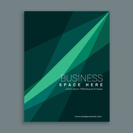 creative green abstract brochure flyer cover template design in A4 size