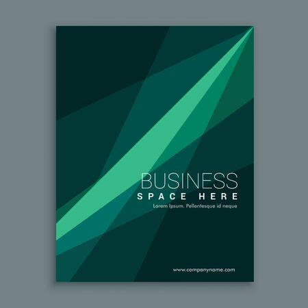 kreatives grünes abstraktes Broschüren-Flyer-Cover-Vorlagendesign im A4-Format