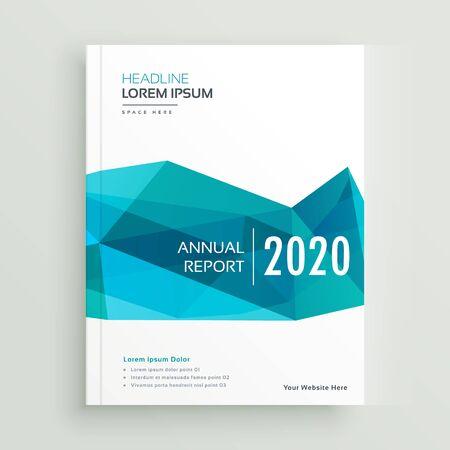 modern blue geometric brochure cover page design Vektoros illusztráció