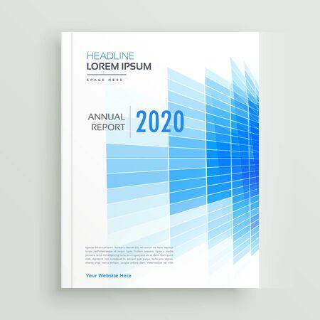abstract blue business brochure leaflet design Vektorové ilustrace