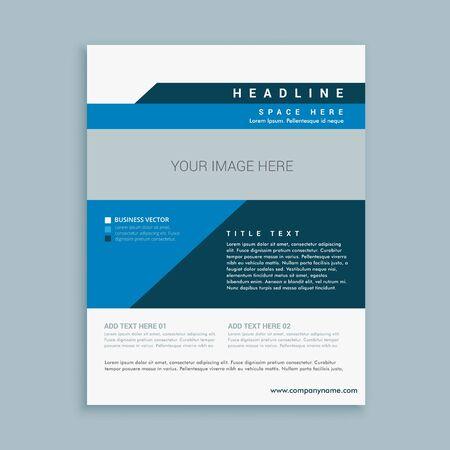creative brochure flyer design with vibrant colors template design illustration Vettoriali