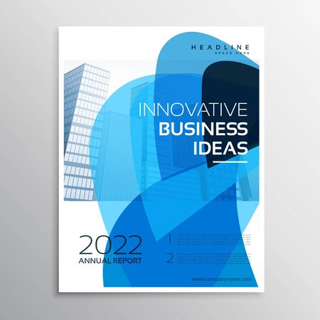 creative brochure flyer design with vibrant colors template design illustration Vecteurs