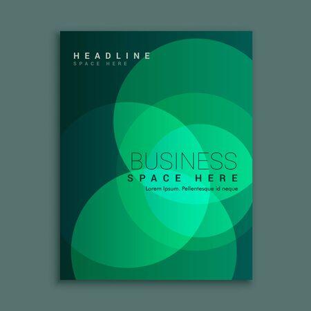 Diseño de volante de folleto creativo con ilustración de diseño de plantilla de colores vibrantes