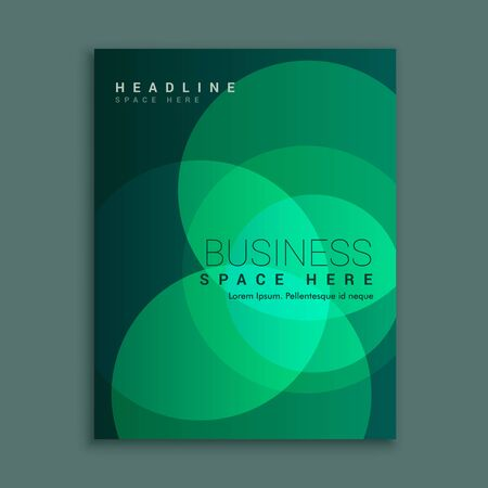 Kreatives Broschüren-Flyer-Design mit lebendiger Farbschablonen-Designillustration