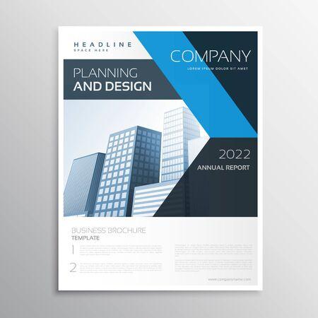 creative brochure flyer design with vibrant colors template design illustration