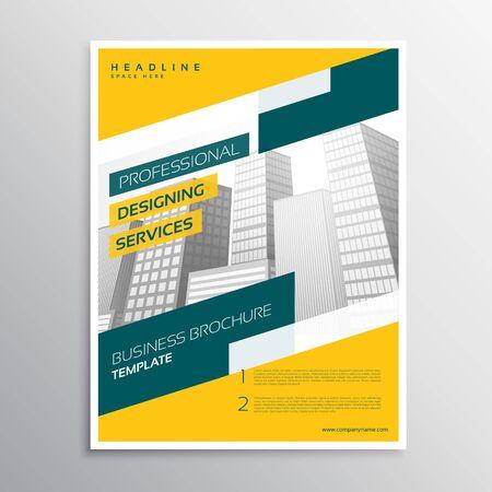 creative yellow grometric business flyer brochure design template Vektoros illusztráció