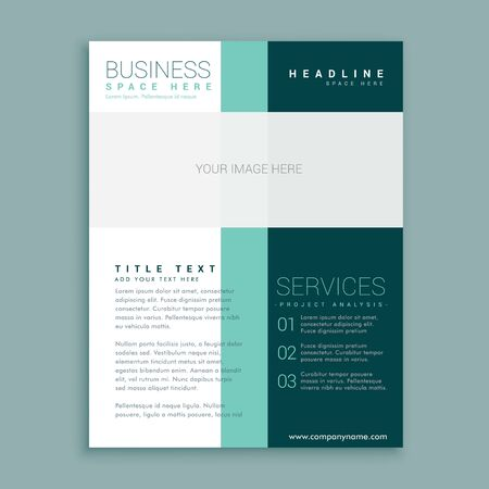 simple brochure design for your business Vetores