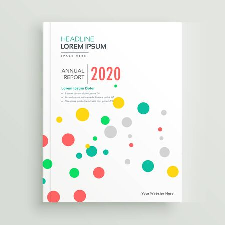 colorful funky brochure book cover with dots