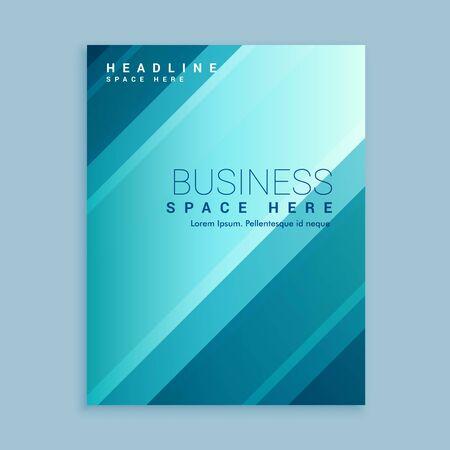 creative brochure flyer design with vibrant colors template design illustration Ilustração Vetorial