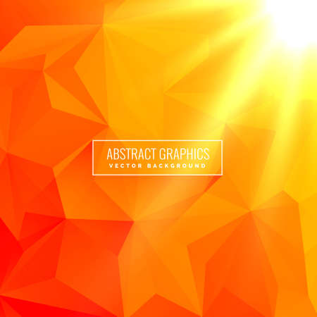 abstract orange background made with geometrical shapes